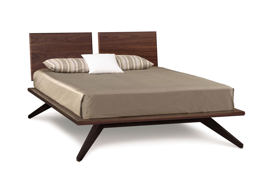 Copeland Astrid Bed with 2 Headboard Panels in Walnut