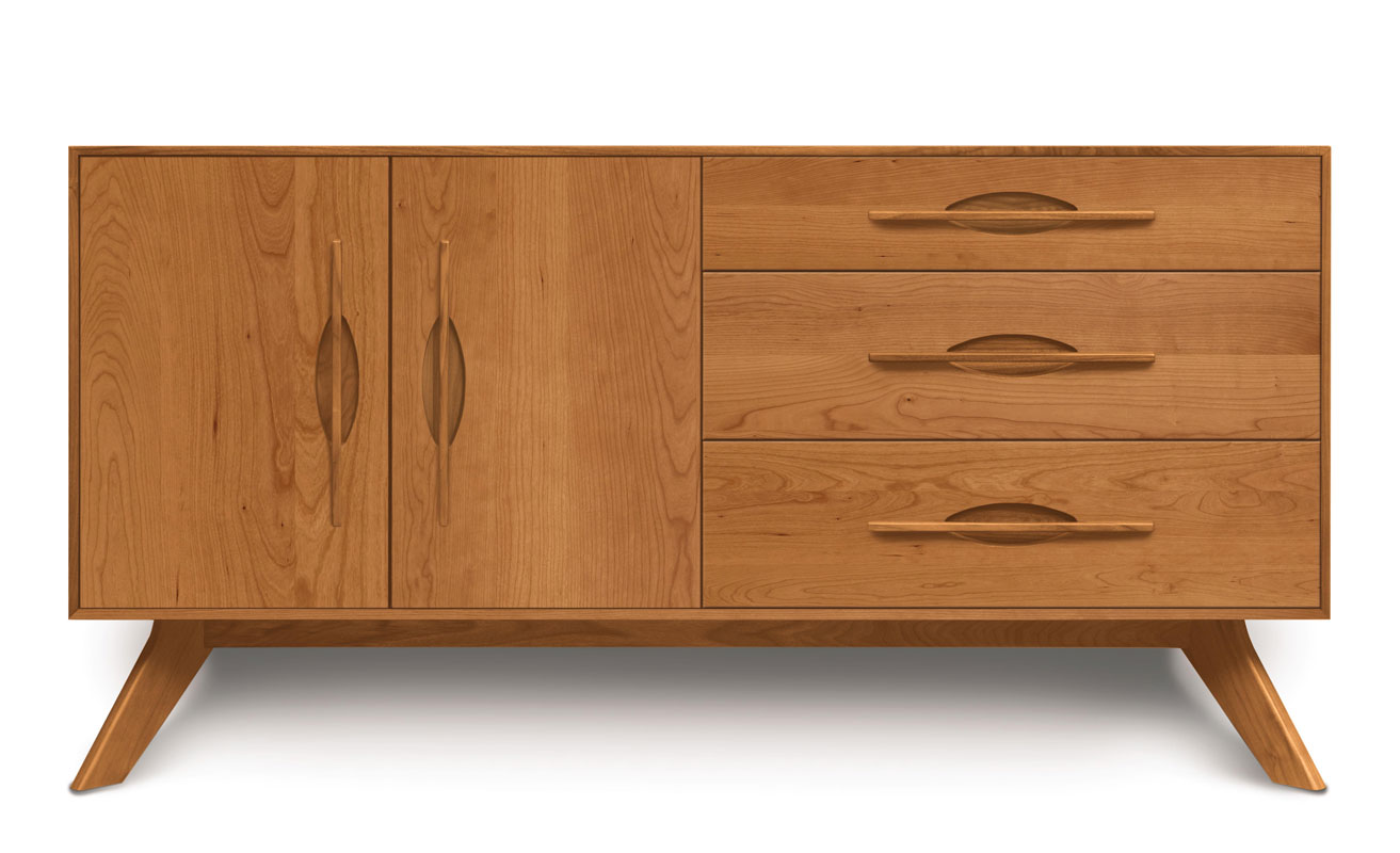 Copeland Audrey 3 Drawers on Right, 2 Doors on Left Buffet in Cherry