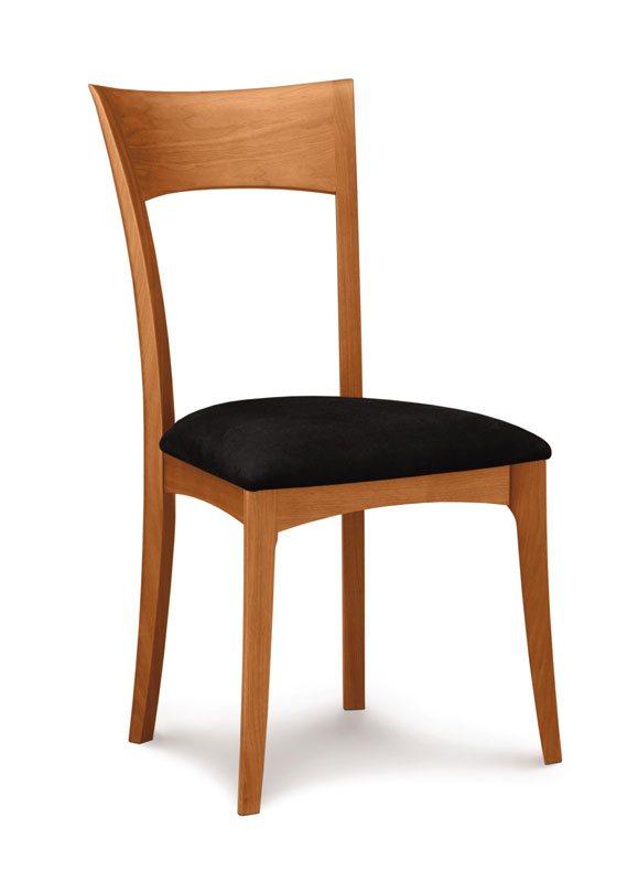 Copeland Ingrid Side Chair in Cherry with Upholstered Seat