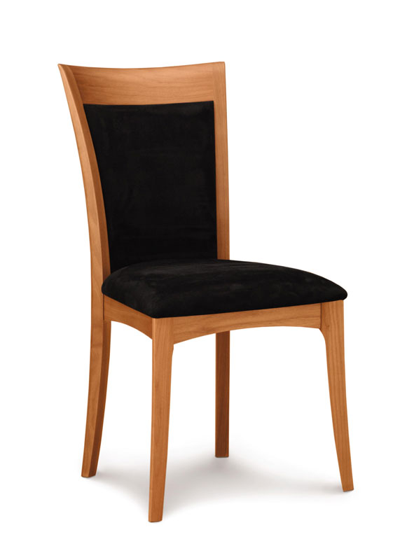 Copeland Morgan Side Chair in Cherry with Upholstered Seat and Back