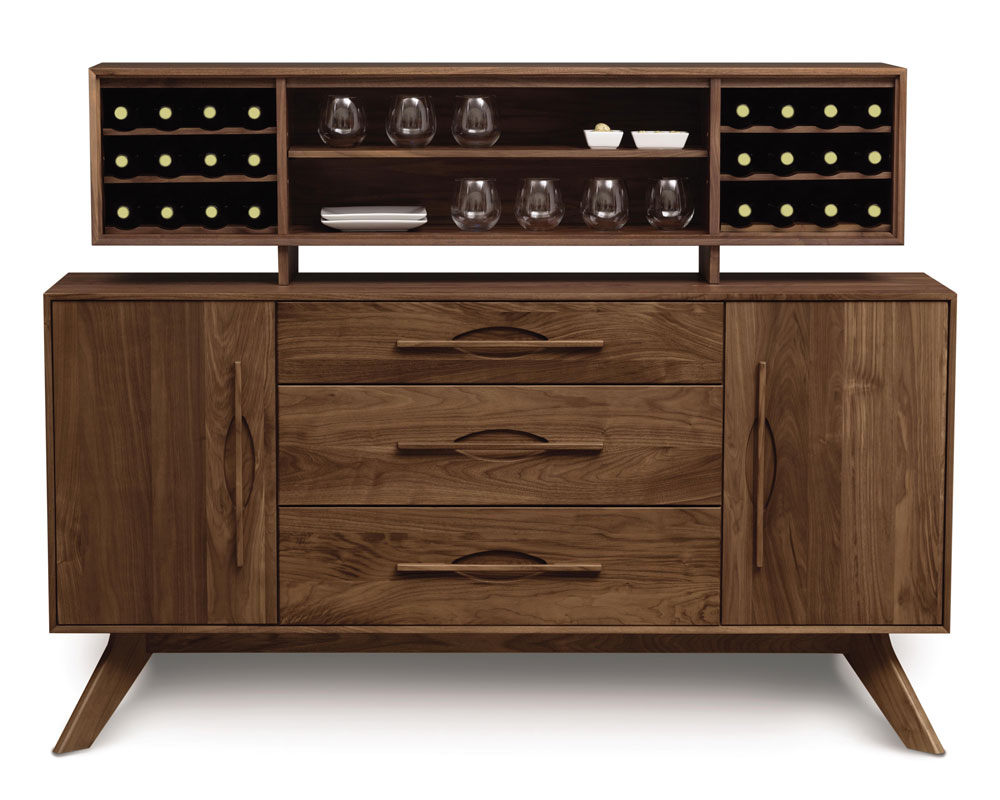 Copeland Audrey 1 Door, 3 Drawer Buffet and Hutch in Walnut