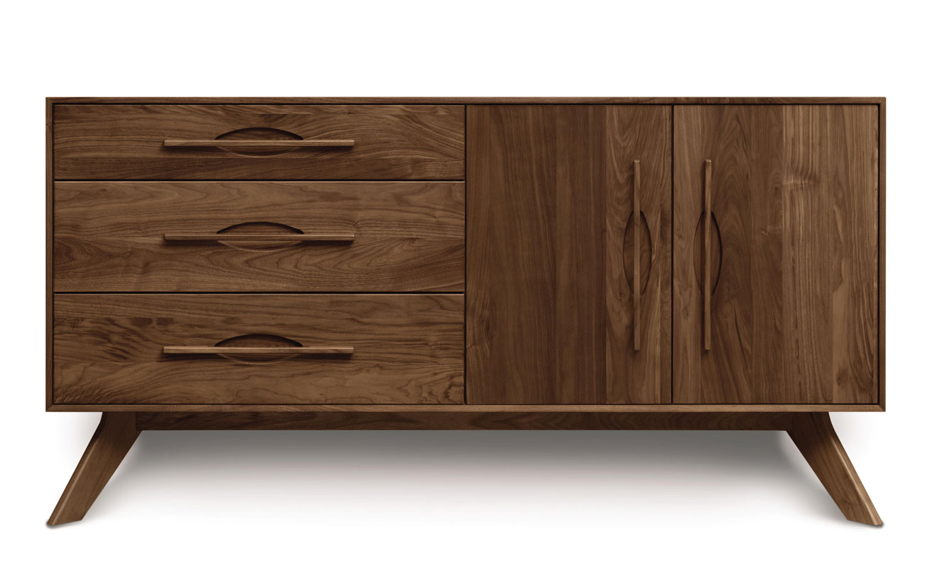 Copeland Audrey 3 Drawers on Left, 2 Doors on Right Buffet in Walnut