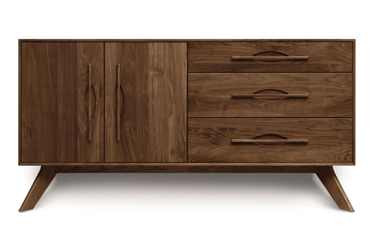 Copeland Audrey 3 Drawers on Right, 2 Doors on Left Buffet in Walnut