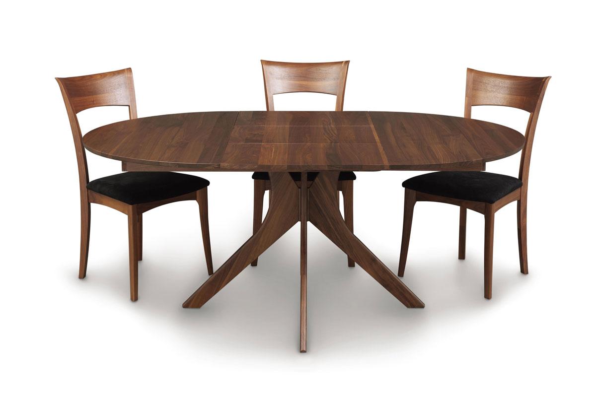 Copeland Audrey Round Extension Table In Walnut Ohio