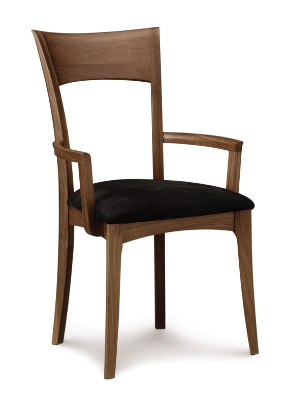 Copeland Ingrid Arm Chair in Walnut with Upholstered Seat
