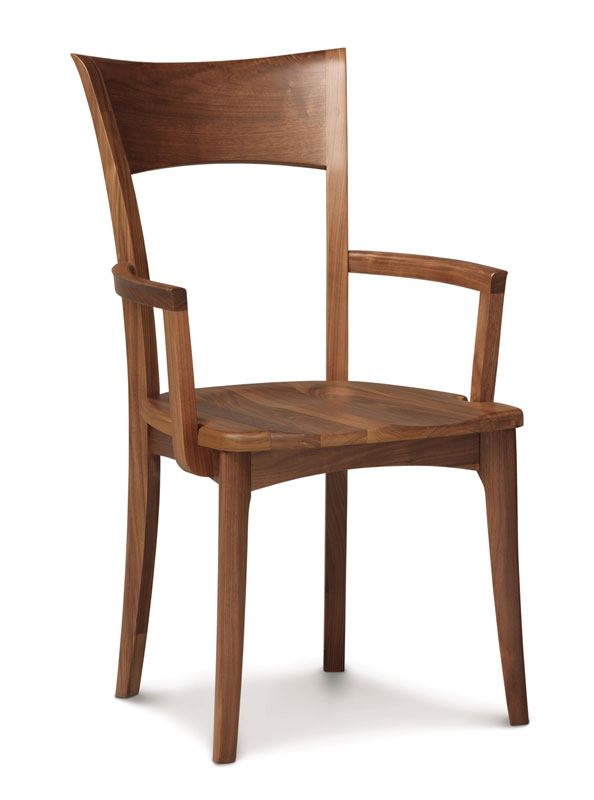 Ingrid Arm Chair in Walnut with a Wood Seat