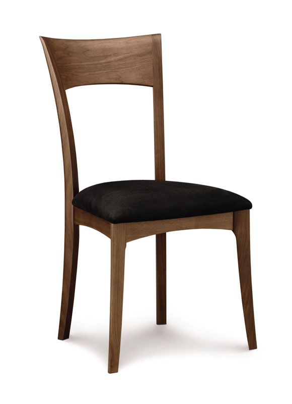 Copeland Ingrid Side Chair in Walnut with Upholstered Seat