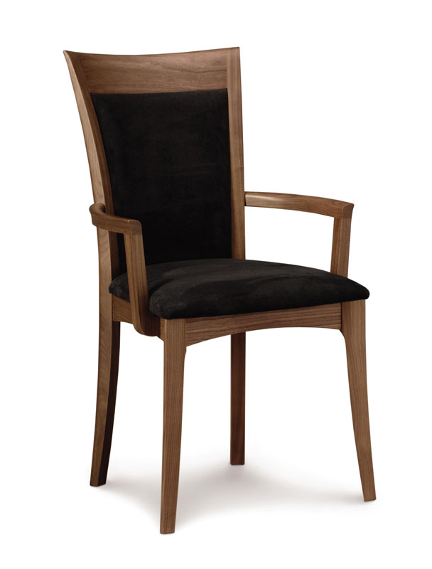 Copeland Morgan Arm Chair in Walnut with Upholstered Seat and Back