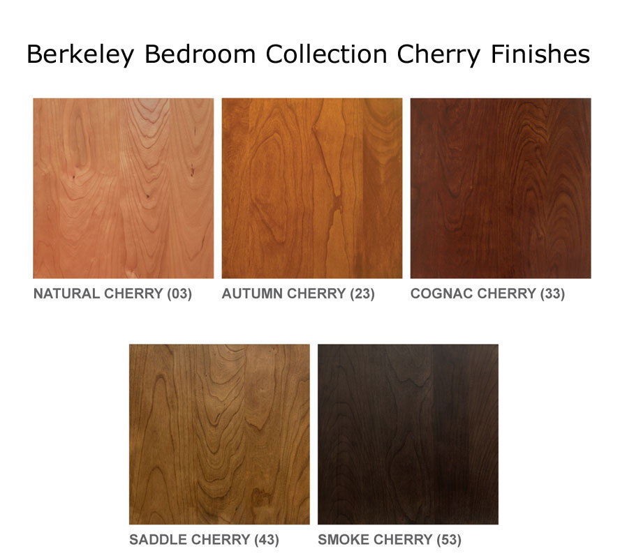 Copeland Berkeley Bedroom Cherry finishes.