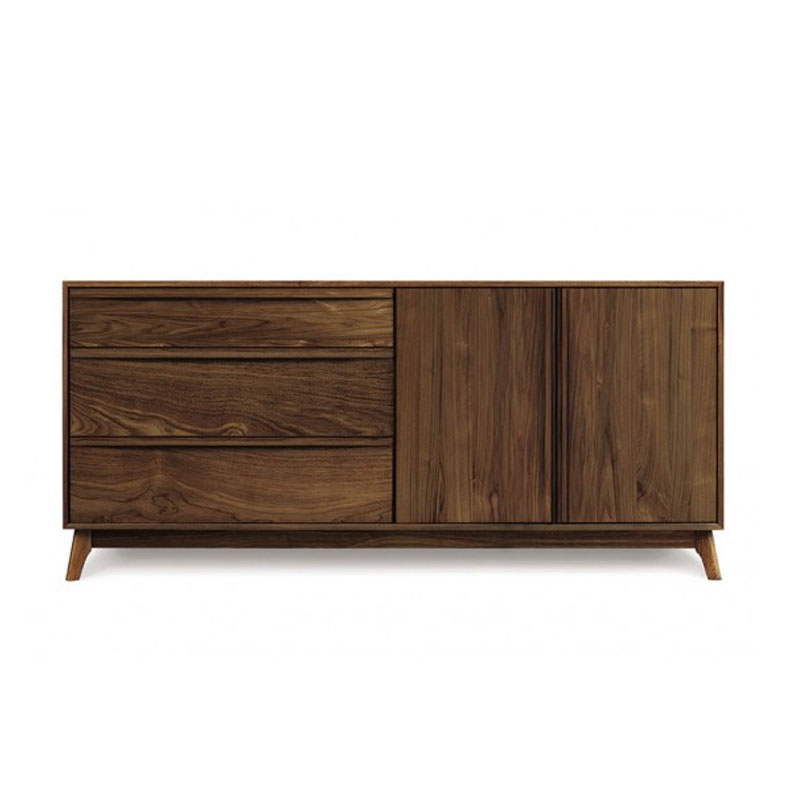 Copeland Catalina 3 Drawers on Left, 2 Doors on Right Dresser in Walnut
