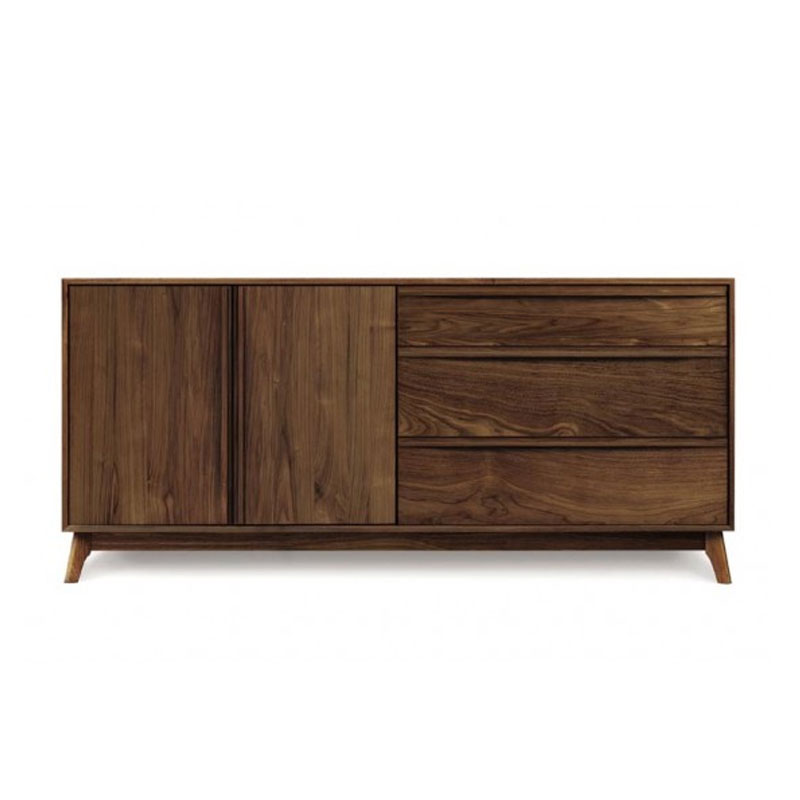 Copeland Catalina 3 Drawers on Right, 2 Doors on Left Dresser in Walnut