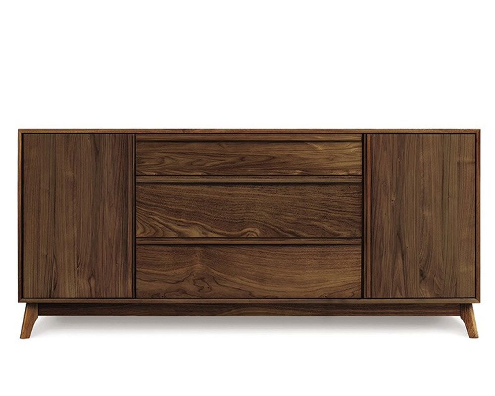 Copeland Catalina 1 Door on Either Side of 3 Drawers in Walnut