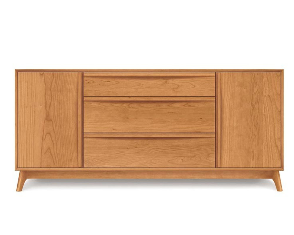 Copeland Catalina 1 Door on Either Side of 3 Drawers Buffet in Cherry