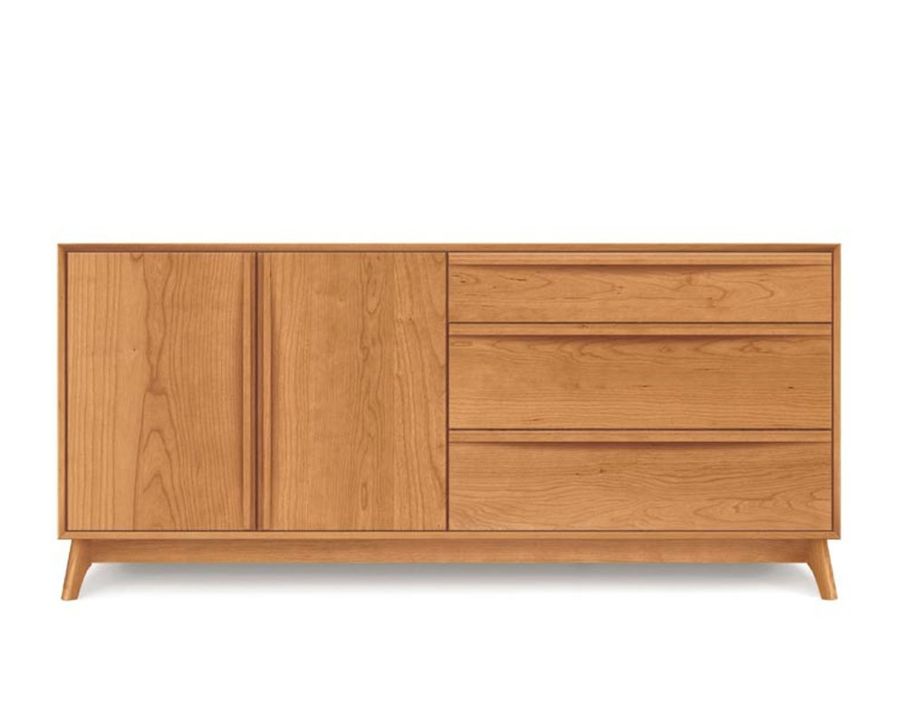 Copeland Catalina 3 Drawers on Right, 2 Doors on the Left Buffet in Cherry