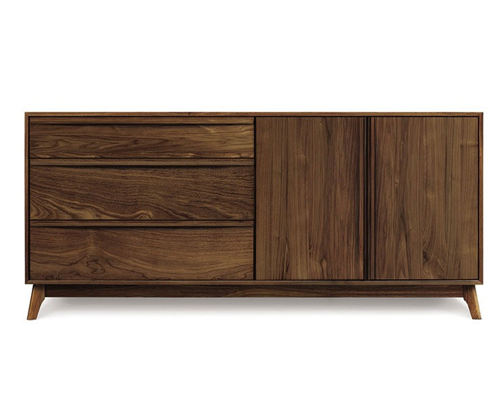 Copeland Catalina 3 Drawers on Left, 2 Doors on the Right Buffet in Walnut