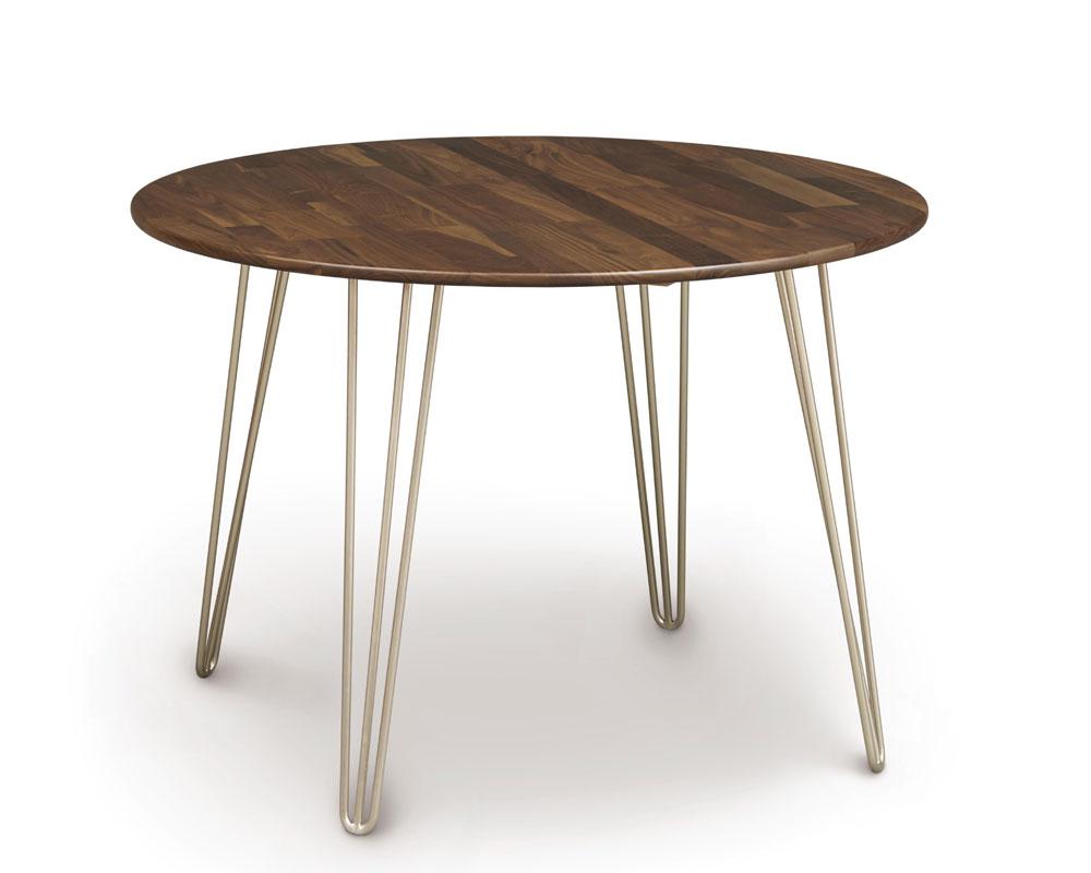 copeland essentials round dining table with metal legs ohio hardwood furniture. Black Bedroom Furniture Sets. Home Design Ideas