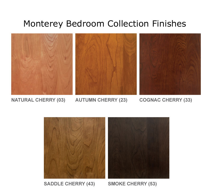 Copeland Monterey Bedroom Collection Finishes.