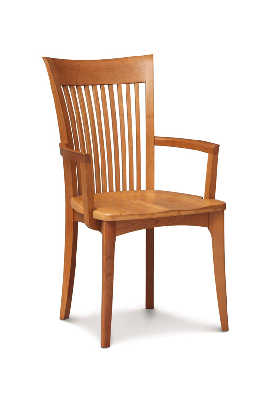 Sarah Arm Chair with a Wood Seat