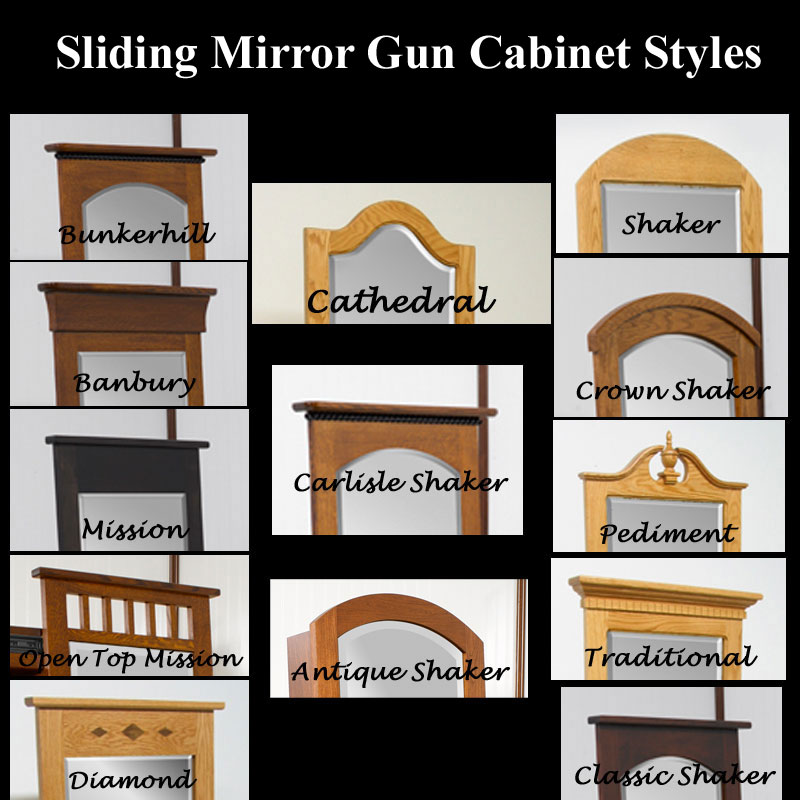 Sliding Mirror Gun Cabinets