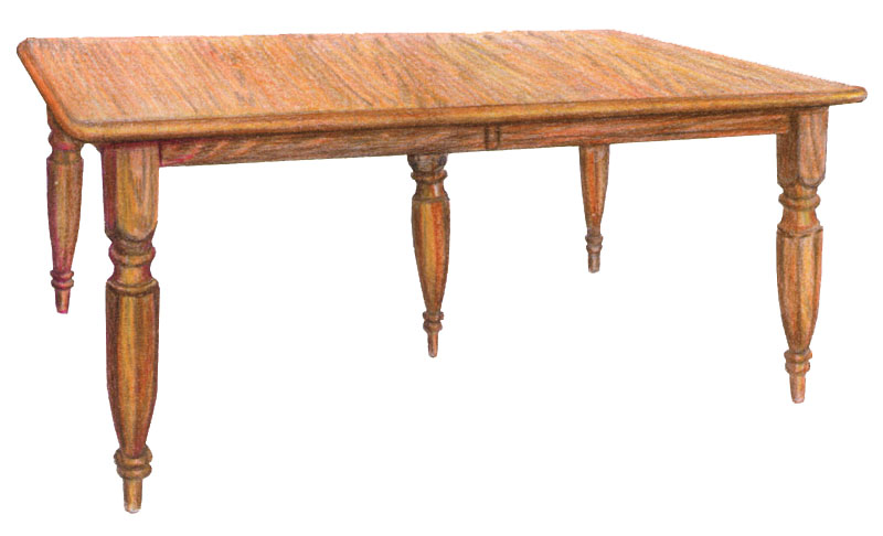 "4"" Octagon Leg Table with Five Legs"