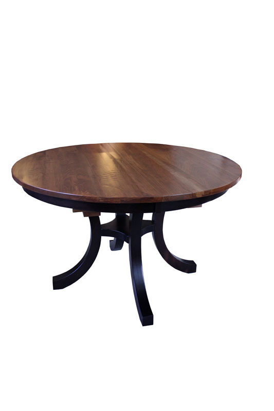 Carlisle Single Pedestal Table with Butterfly Leaf