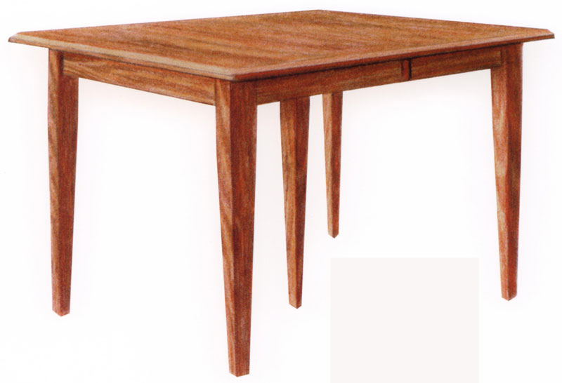 Shaker Style Plymouth Table Red Oak With Michaelu0027s Cherry Stain And Onyx  Legs.