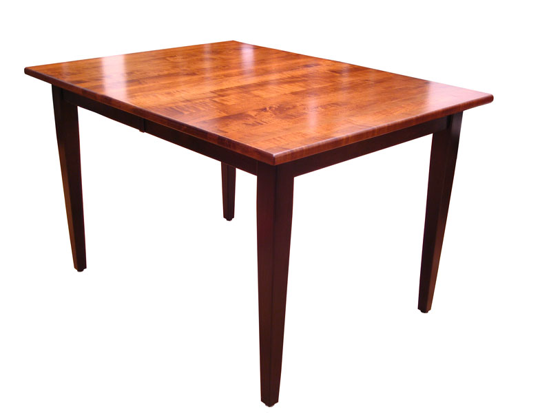 Two Tone Shaker Style Plymouth Table Is Brown Maple With Michaelu0027s Cherry  Stain On Top And