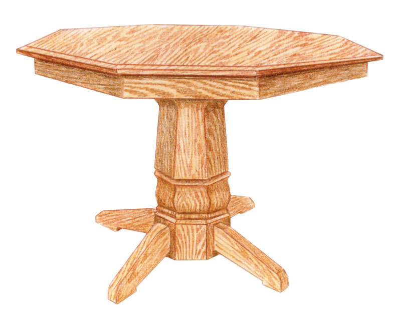 Rockford Single Pedestal Octagon Table
