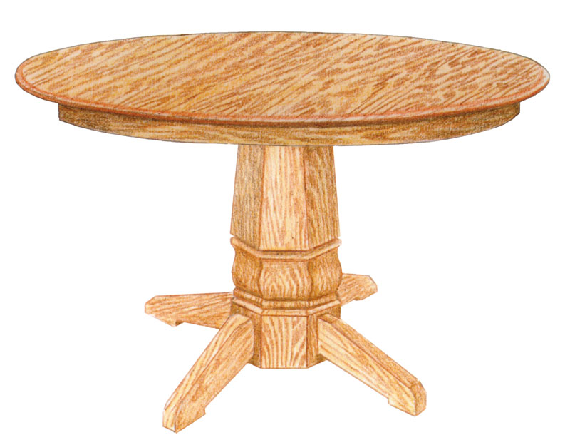 Rockford Single Pedestal Round Table