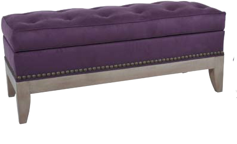 PF5200 Storage Bench in a Driftwood Finish and Standard L10 Nail Trim. Standard with Chestnut  sc 1 st  Ohio Hardwood Furniture : purple storage bench  - Aquiesqueretaro.Com