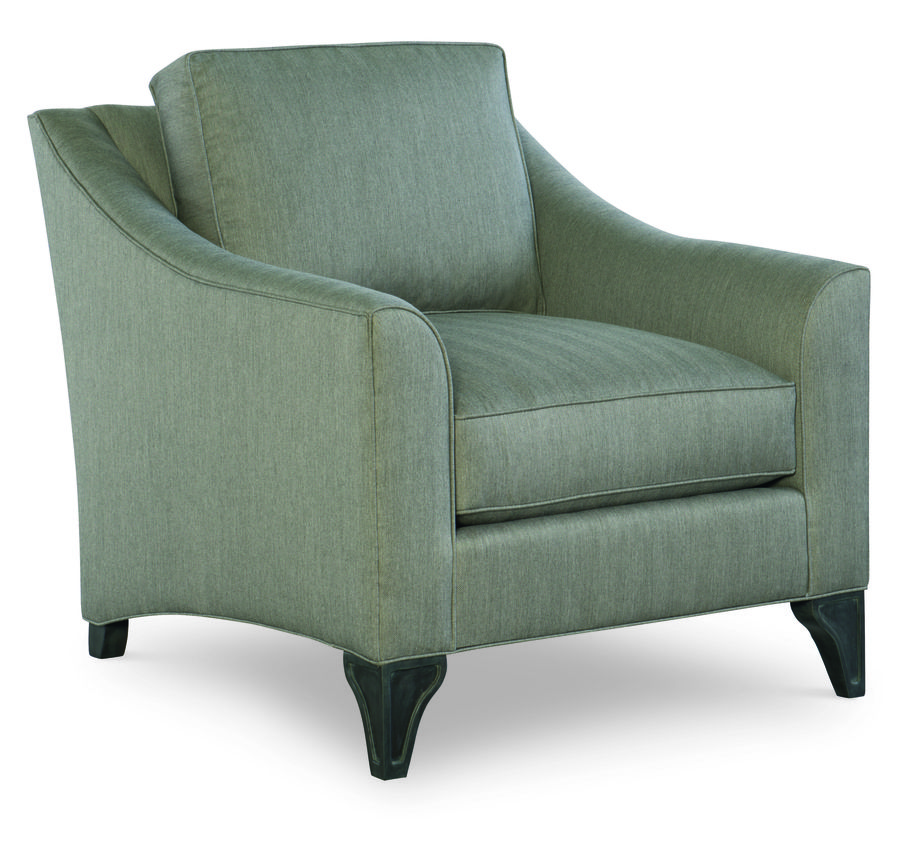 Cr laine 3710 05 hayden chair shown in trax smoke fabric with a graphite finish