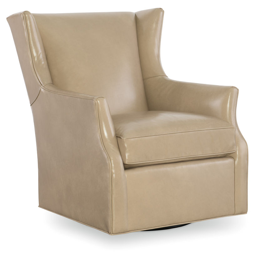 CR Laine L4105 05SG Holman Swivel Glider In Madison Putty LL Leather