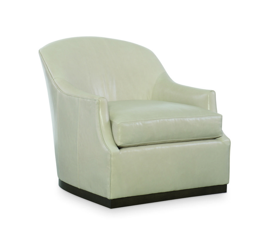 CR Laine L1825 05SW Lincoln Swivel Chair Shown In Winchester Vapor LL  Leather With A