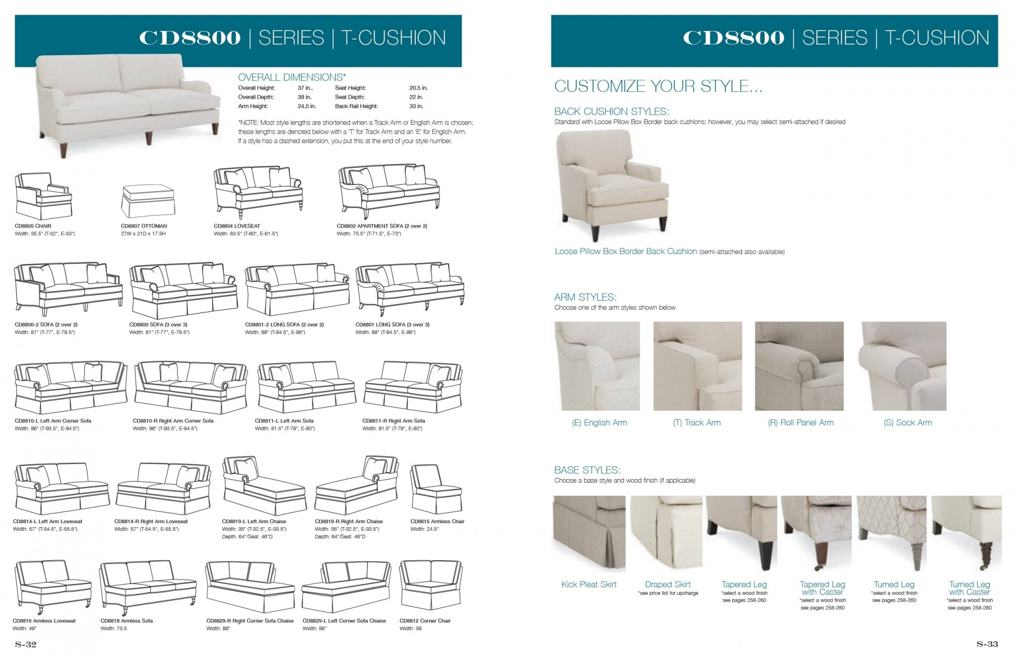 Dimensions: View All Sectional Dimensions