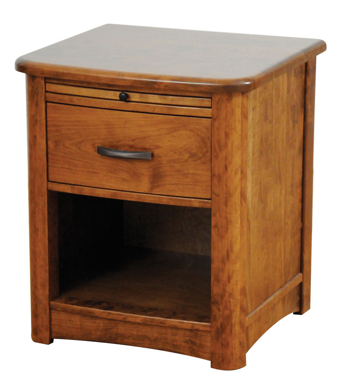 Meridian 1 Drawer Open Nightstand Ohio Hardwood Furniture