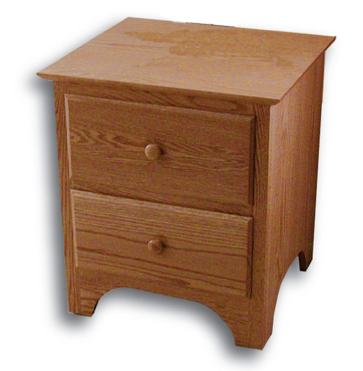 Shaker 2 Drawer Nightstand Ohio Hardwood Furniture