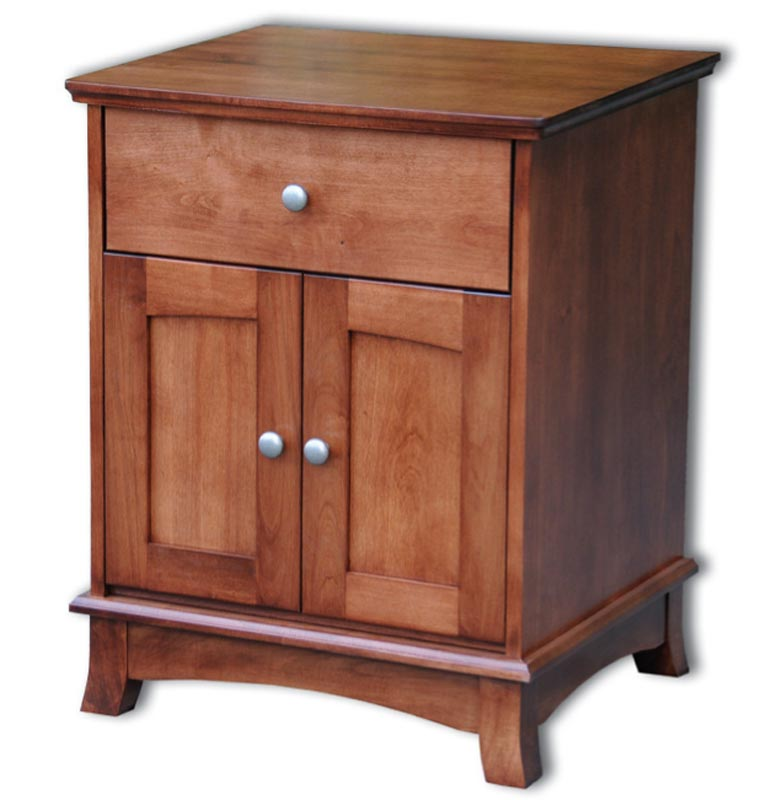 Crescent 1 Drawer 2 Door Nightstand In Solid Hardwood Ohio Hardwood Furniture