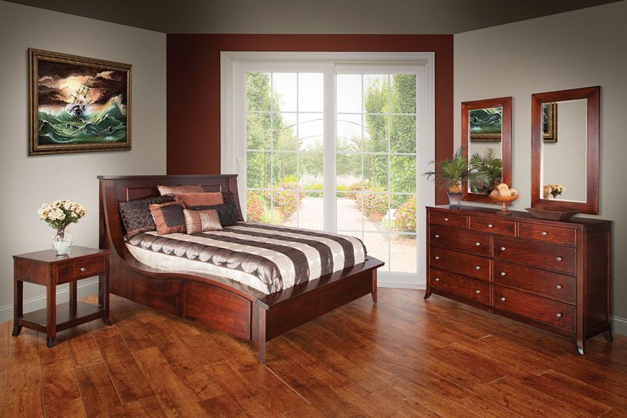 Kingsley 1-Drawer 2 Door Nightstand - Ohio Hardwood Furniture