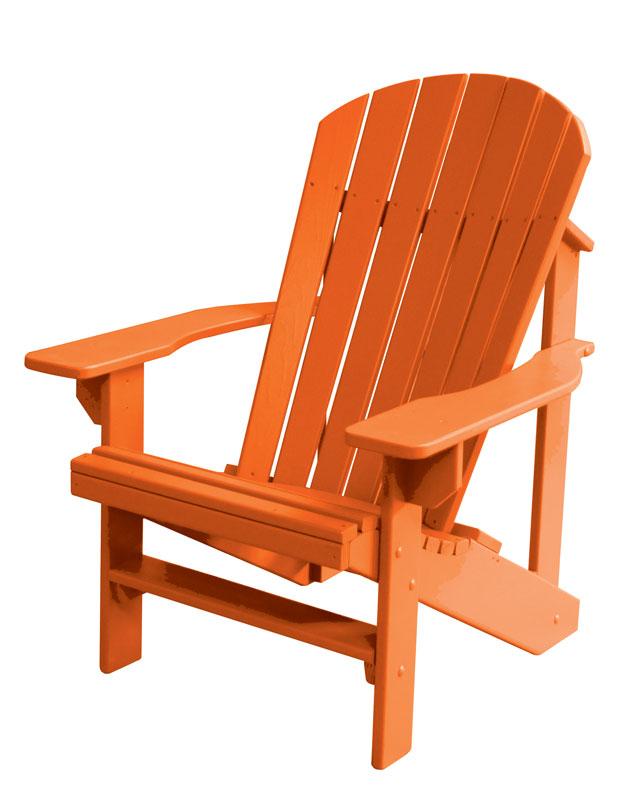 Painted Adirondack Chair In Burnt Orange Color
