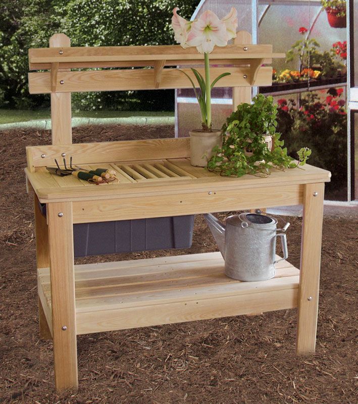 Potting table ohio hardword upholstered furniture Outdoor potting bench