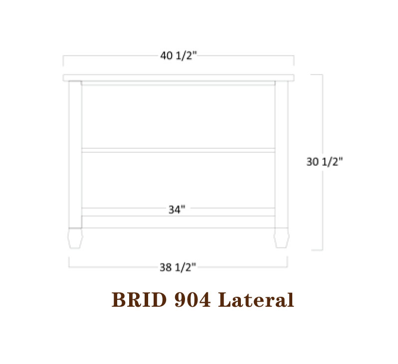 Bridgeport Series Lateral File Specifications