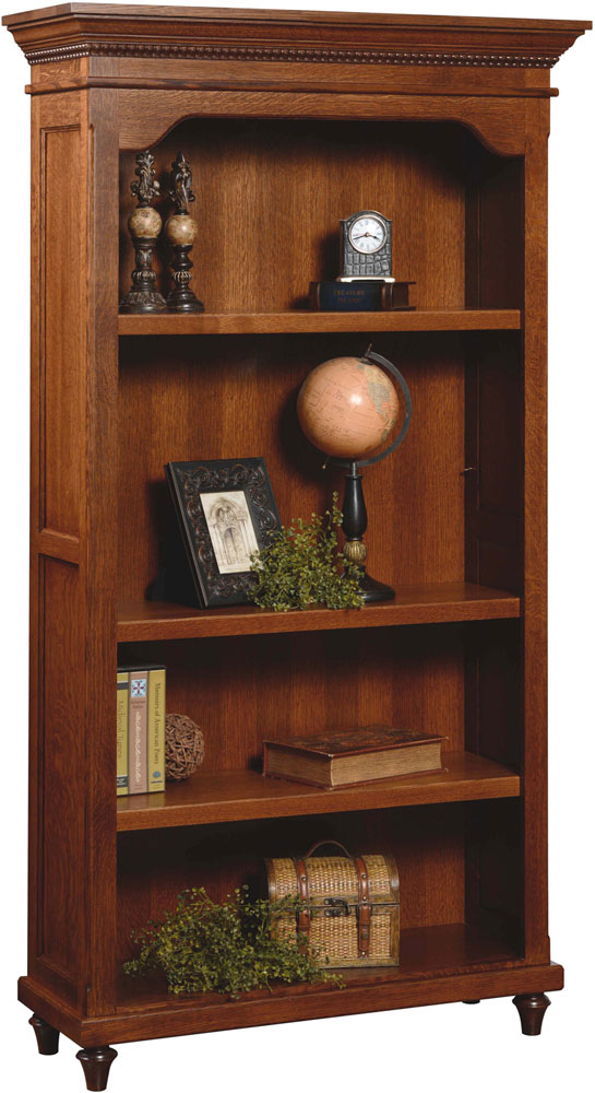 Bridgeport Series Bookcase shown in Quartersawn White Oak with FC7992 Abury Stain.