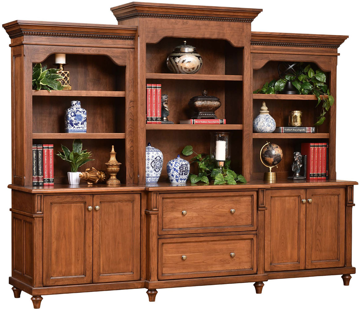 Bridgeport Series 98 inch Base and Three Piece Hutch