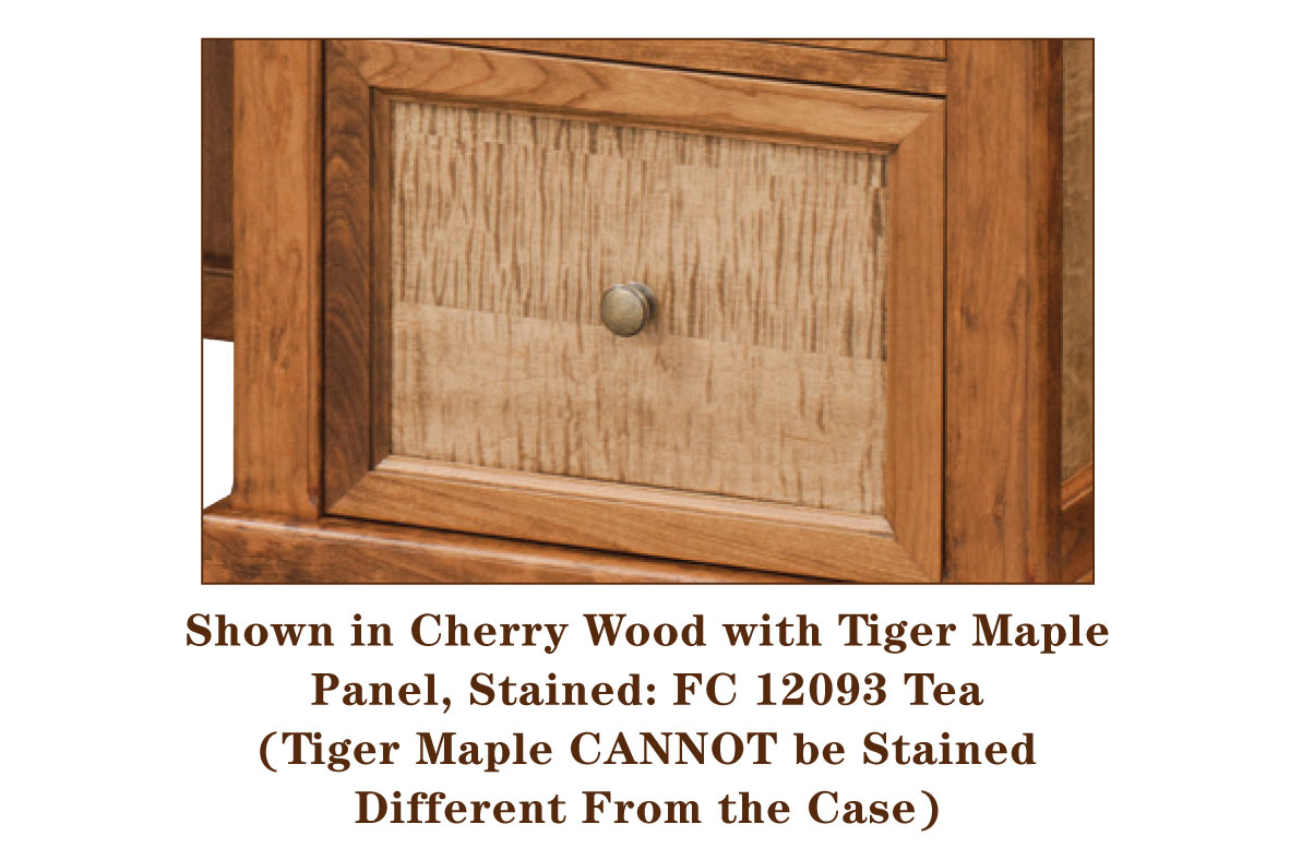 Bridgeport Series Tiger Maple Panel Detail