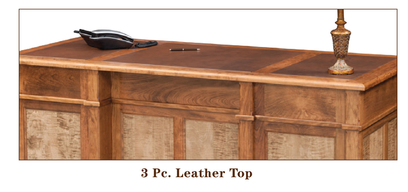 Bridgeport Series optional 3 PC Leather Inlay Top