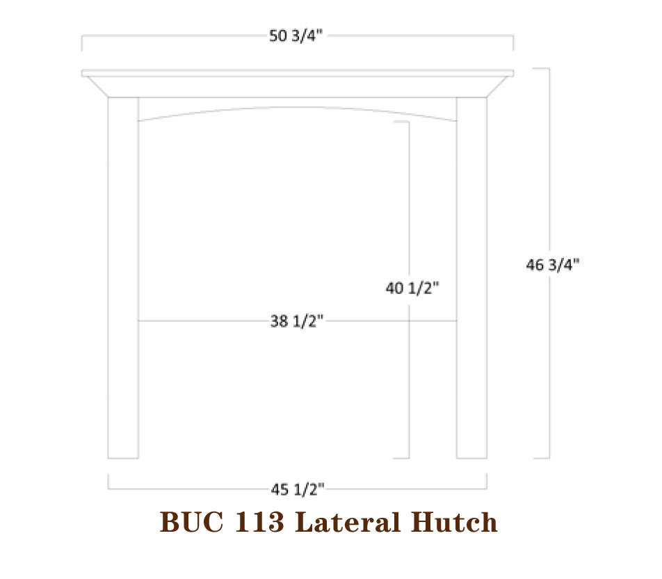 Buckingham Series Lateral Bookshelf Specifications