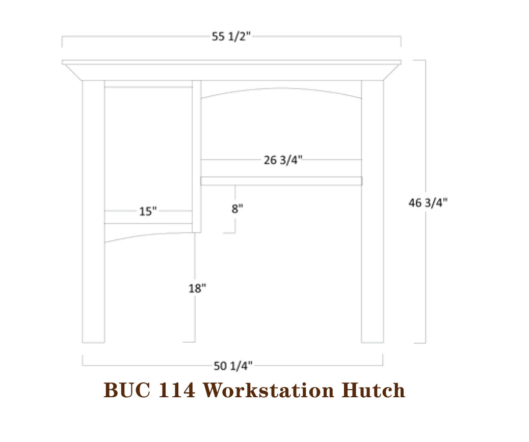 Buckingham Series Hutch Specifications