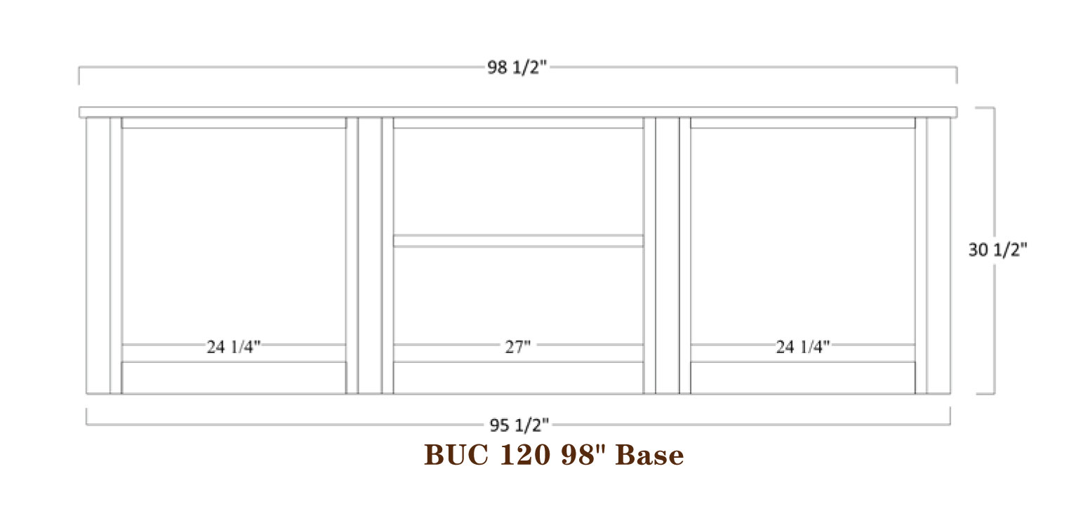 Buckingham Series 989 inch Base Specifications