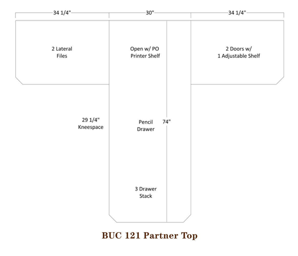Buckingham Series Partner Desk Specifications
