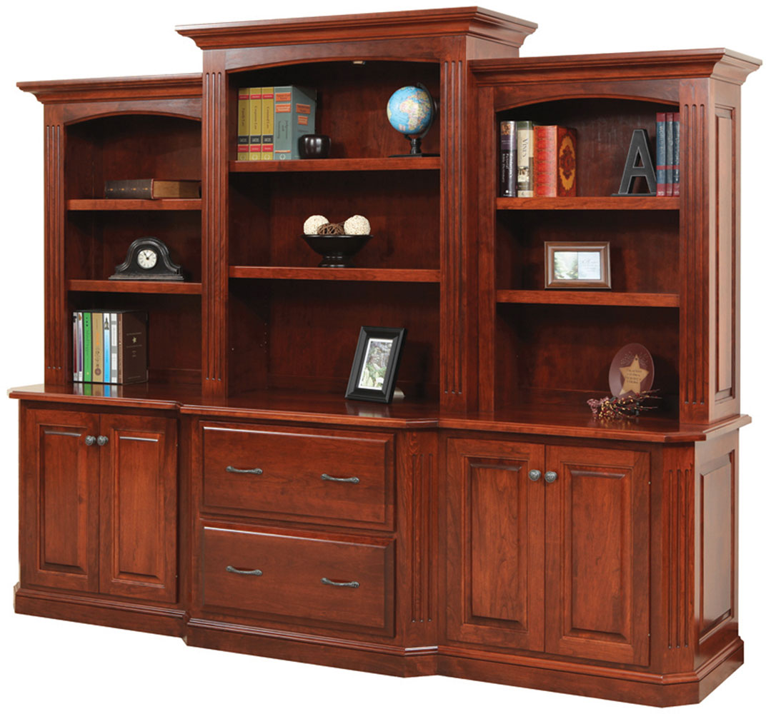 Buckingham Series 98 inch Base and Three Piece Hutch
